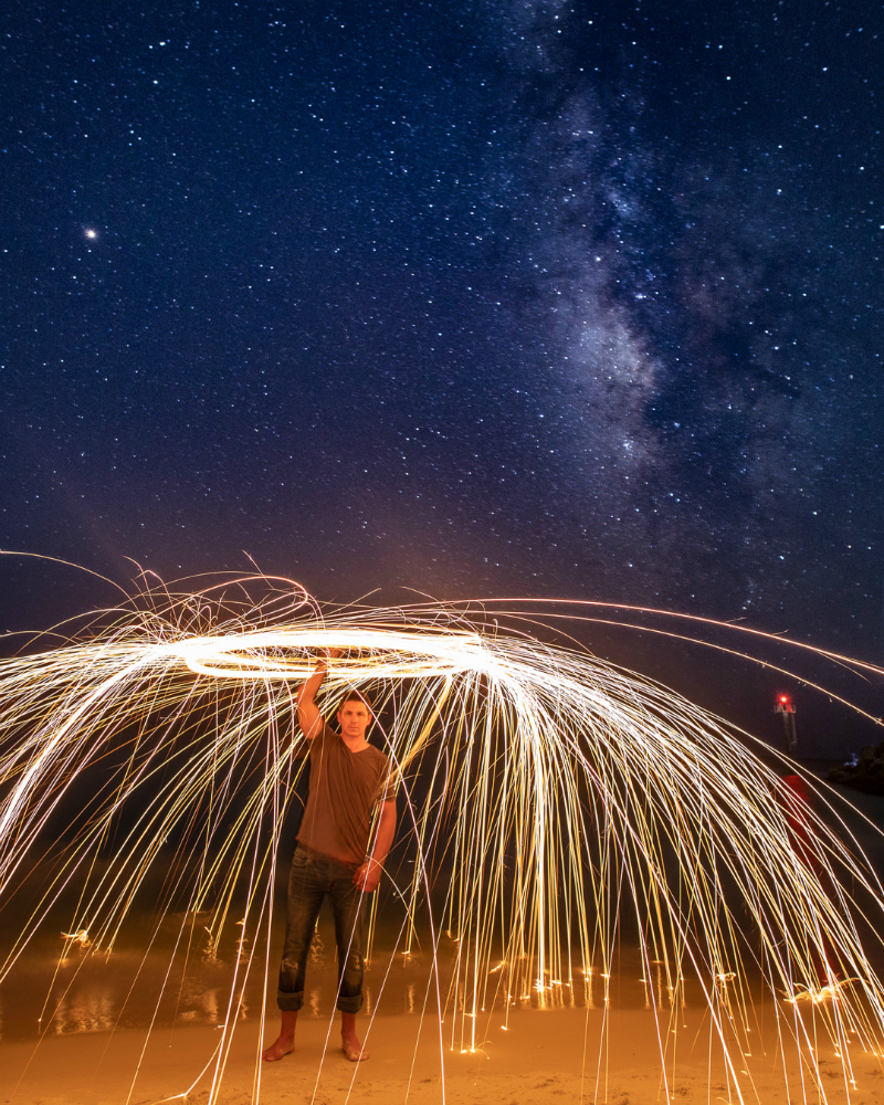 How to Photograph the Milky Way and Steel Wool in a Single